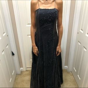 Diver beaded gown.